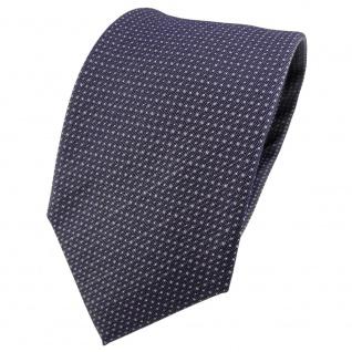 TigerTie Seidenkrawatte anthrazit grau silber gepunktet - Krawatte Seide Tie