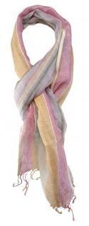 TigerTie Designer Schal in rosa orange beige grün lila blau gestreift