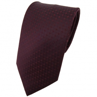 Designer Seidenkrawatte braun bordeauxbraun gemustert - Krawatte Seide Binder