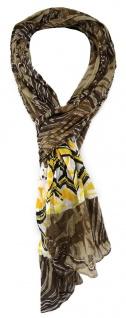 TigerTie - gecrashter Schal in braun grau gelb schwarz gemustert