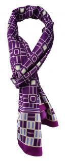 TigerTie Unisex Halstuch magenta violett grau creme gemustert Gr. 160 x 36 cm - Vorschau