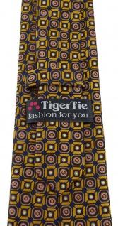 TigerTie Designer Krawatte in gold rosa silber schwarz gemustert - Vorschau 4