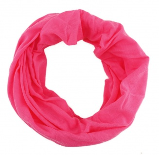 TigerTie Multifunktionstuch in pink uni - Tuch Schal Schlauchtuch Wundertuch