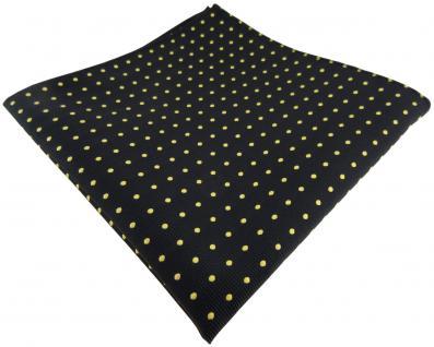 TigerTie Einstecktuch in schwarz gold gepunktet - Kavalierstuch Pochette