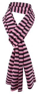TigerTieDamen Schal rosa schwarz gestreift Gr. 172 cm x 27 cm - Halstuch Tuch