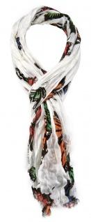 TigerTie Schal in orange weiss grün rose blau dunkelbraun Motiv Schmetterlinge