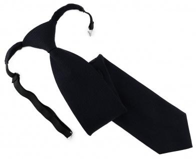 TigerTie Designer Security Sicherheits Krawatte Pique in schwarz uni gemustert