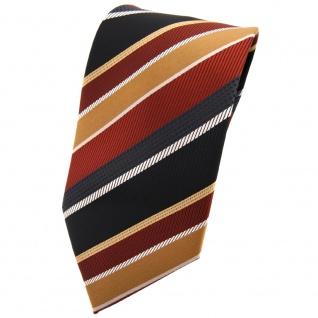 TigerTie Krawatte braun kupfer schwarz silber gold gestreift - Tie Binder