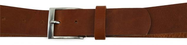 TigerTie - hochwertiger Ledergürtel braun - Bundweite 110 cm - 40 mm breit - Vorschau 3