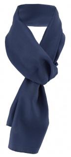 TigerTie Damen Chiffon Halstuch blau dunkelblau Uni Gr. 160 cm x 36 cm - Schal