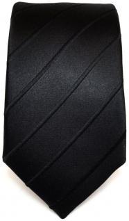 Schmale TigerTie Seidenkrawatte schwarz gestreift - Tie Krawatte 100% pure Seide - Vorschau 2
