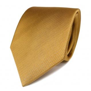 Schicke TigerTie Seidenkrawatte gelb gold gestreift - Krawatte Seide Binder Tie