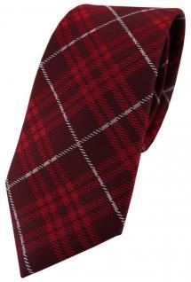 Hennes cologne Designer Seidenkrawatte rot blau silber kariert - Krawatte Seide