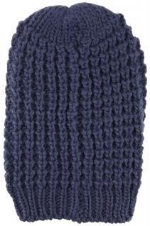 Strickmütze in dunkelblau Uni - Wintermütze - Mütze Größe M