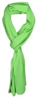 TigerTie Schal in grün uni einfarbig - Schalgröße 180 x 40 cm - Vorschau