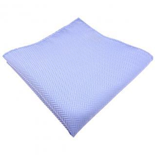 TigerTie Designer Einstecktuch hellblau blau silber gestreift - Tuch Polyester