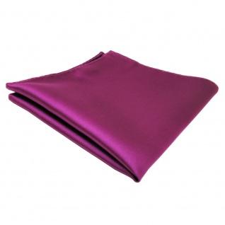 schönes TigerTie Einstecktuch lila magenta fuchsia einfarbig - Tuch Polyester