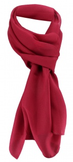 TigerTie Damen Chiffon Halstuch rot bordeaux rot Uni Gr. 160 cm x 36 cm - Schal