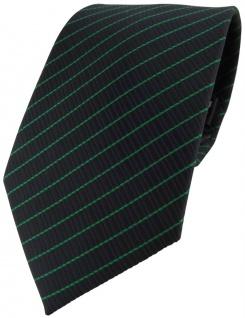 TigerTie Designer Krawatte grün schwarz gestreift - Schlips Binder Tie