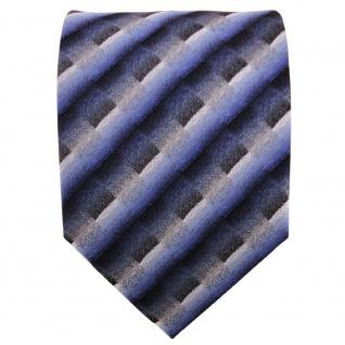 TigerTie Krawatte dunkelblau grau silber anthrazit gestreift - Krawatte Binder - Vorschau 2