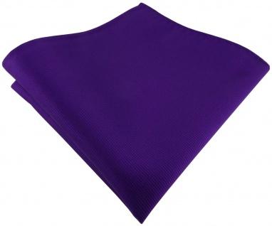 TigerTie Designer Einstecktuch in lila violett einfarbig uni Rips