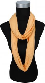 TigerTie Loop Schal in lachs orange einfarbig Uni - Gr. 180 x 40 cm - Rundschal