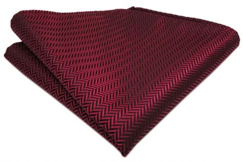 TigerTie Designer Einstecktuch in weinrot gestreift - Größe 25 x 25 cm