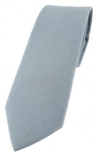 schmale TigerTie Krawatte in grau Uni - 100% Baumwolle - Krawattenbreite 6 cm
