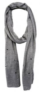 TigerTie Schal in grau einfarbig mit Nieten gemustert