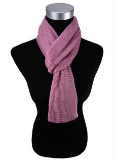 Damen Satin Schal Halstuch violett rosa gemustert Gr. 155 cm x 55 cm - Tuch