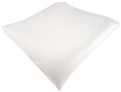 Einstecktuch handrolliert weiss einfarbig Uni - 100% Seide - Gr. 30 x 30 cm