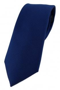 Modische TigerTie Designer Krawatte in dunkelblau fein gepunktet