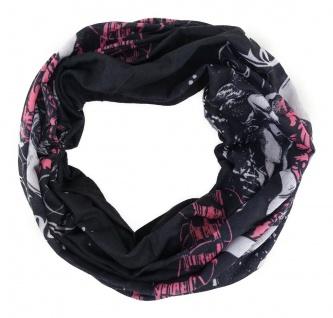 TigerTie Multifunktionstuch in rosa schwarz weiss Totenkopf - Tuch Schlauchtuch