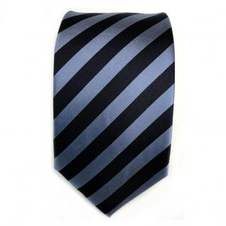 TigerTie Seidenkrawatte blau dunkelblau graublau gestreift - Krawatte Seide Silk - Vorschau 2