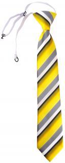 TigerTie Security Sicherheits Krawatte in gelb grau weiss schwarz gestreift