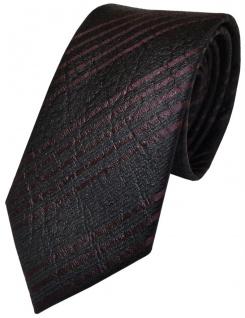 Schöne geprägte Krawatte aus 100% Seide in violett dunkelbraun gestreift