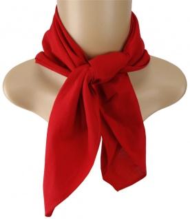 TigerTie Nickituch Halstuch in rot Uni - Tuchgröße 60 x 60 cm - 100% Baumwolle