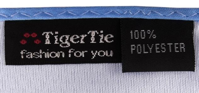 schöne TigerTie Krawatte + Einstecktuch blau hellblau uni - Binder Tie Polyester - Vorschau 2