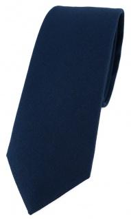 schmale TigerTie Krawatte in marine Uni - 100% Baumwolle - Krawattenbreite 6 cm