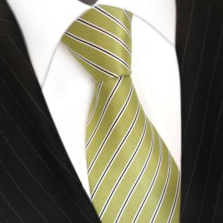 Designer Krawatte grün hellgrün schwarz weiß gestreift - Tie Schlips Binder - Vorschau 3
