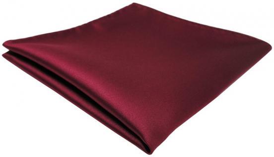 TigerTie Einstecktuch bordeaux einfarbig Uni - Tuch Polyester - Größe 26 x 26 cm
