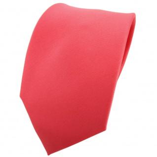 TigerTie Krawatte rot rosé lachsrot einfarbig 100 % Polyester - Tie Binder