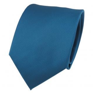 TigerTie Designer Krawatte türkis wasserblau türkisblau Uni Rips - Binder Tie