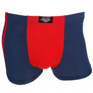 Boxershorts Retro Shorts Unterwäsche Unterhose Pants blau-rot - Baumwolle Gr. M