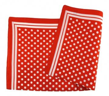TigerTie Seiden Nickituch in rot weiss gepunktet - Größe 50 x 50 cm