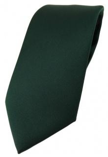 TigerTie Designer Krawatte in dunkelgrün einfarbig Uni - Tie Schlips