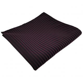 schönes Einstecktuch in lila violett schwarz gestreift - Tuch 100% Polyester