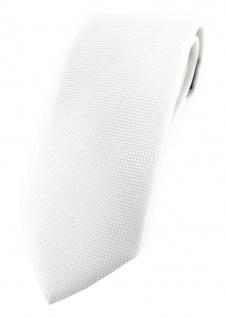 Modische TigerTie Designer Krawatte in weiss fein gepunktet