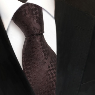 TigerTie Designer Seidenkrawatte braun dunkelbraun gestreift - Krawatte Seide - Vorschau 3