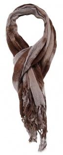 TigerTie Schal in braun silber Silberfaden gemustert - Größe 180 x 50 cm